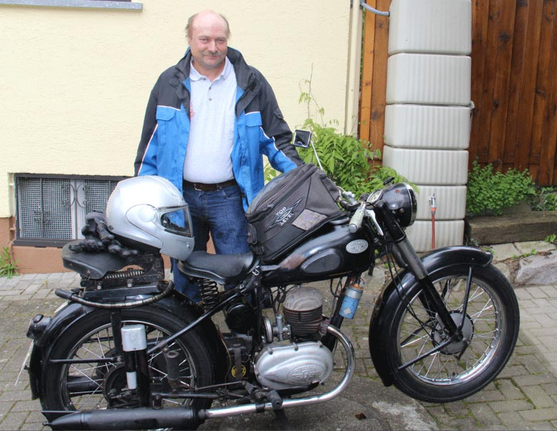 Alfons Lehmann und seine Zündapp DB 200