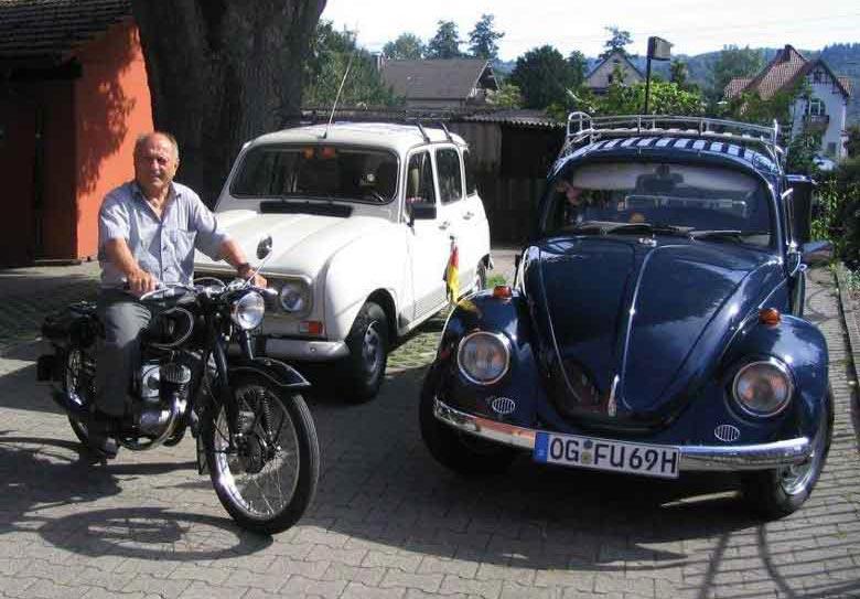 Werner Fuchs auf seiner DKW RT 125